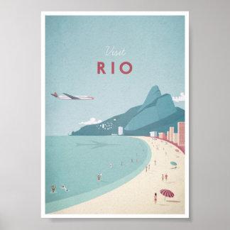 Rio Vintage Travel Poster