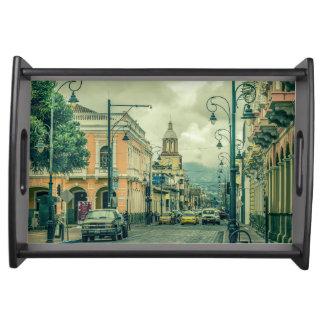 Riobamba Historic Center Urban Scene Serving Tray