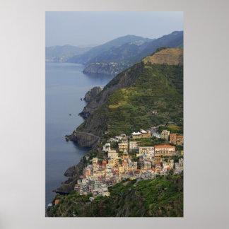 Riomaggiore and Cinque Terre, Italy Poster