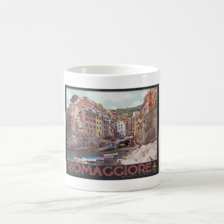 Riomaggiore Harbor (black) Coffee Mug