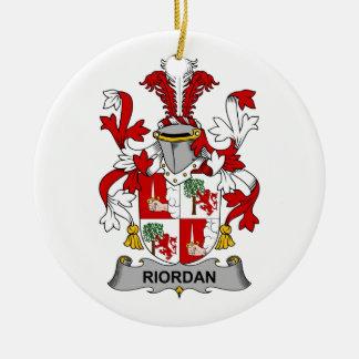 Riordan Family Crest Ceramic Ornament