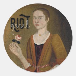 Riot Grrrl Girl Classic Round Sticker