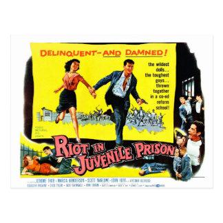 Riot in Juvenile Prison Postcard