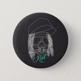Riot Line 6 Cm Round Badge