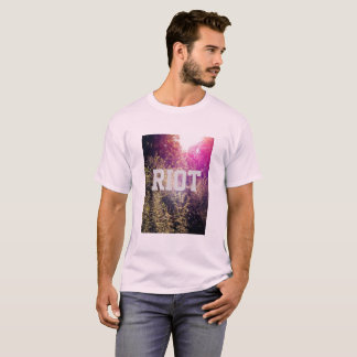 Riot w/ Rainbow Forrest Men's Basic T-Shirt