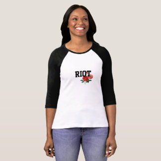 Riot w/ Roses Women's Sleeve Raglan T-Shirt