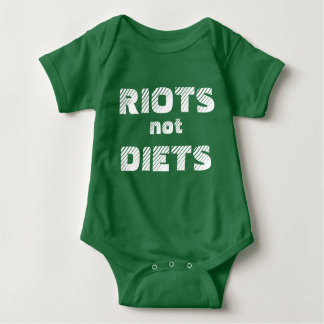 RIOTS NOT DIETS onesy Baby Bodysuit