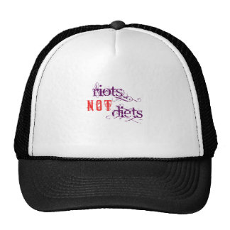 Riots Not Diets (Purple and Red) Cap