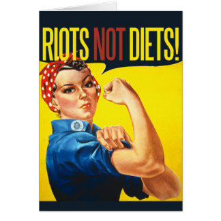 Riots not Diets - vintage feminism Card
