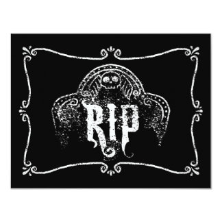 RIP 11 CM X 14 CM INVITATION CARD