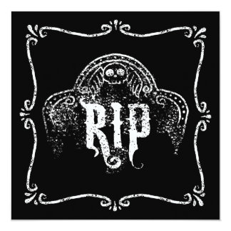 RIP 13 CM X 13 CM SQUARE INVITATION CARD