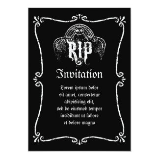 RIP 13 CM X 18 CM INVITATION CARD