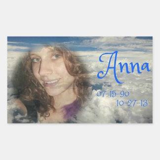 rip ANNA Rectangular Sticker