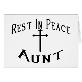 RIP Aunt Greeting Card