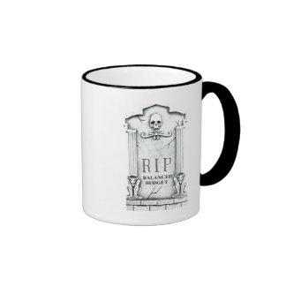 RIP BALANCED BUDGET GRAVESTONE PRINT COFFEE MUG