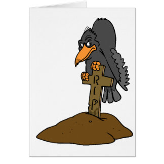RIP Crow Greeting Card