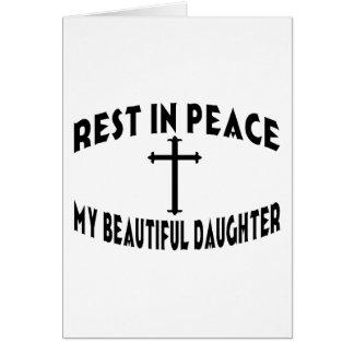 RIP Daughter Greeting Card