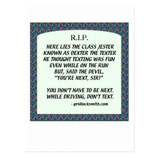 RIP-DEXTERtheTEXTER Post Cards