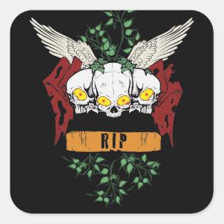 RIP Evil Skulls Stickers