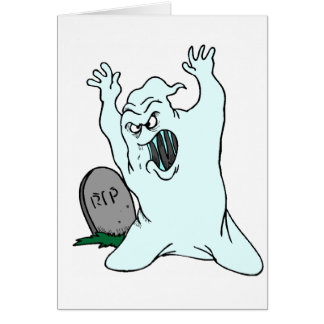RIP Ghost Greeting Card