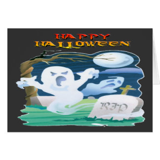 RIP Ghosts Greeting Card