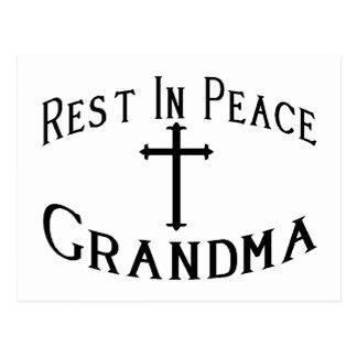 RIP Grandma Postcard