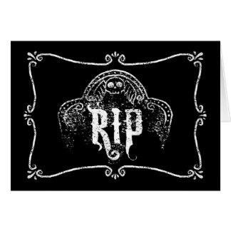 RIP GREETING CARD