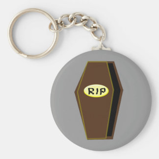 RIP Halloween Coffin of Doom Keychain