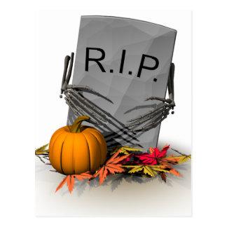 RIP  Haunted Graveyard Postcard