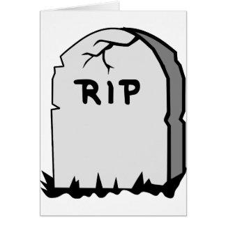 Rip Head stone Card