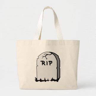 Rip Head stone Large Tote Bag
