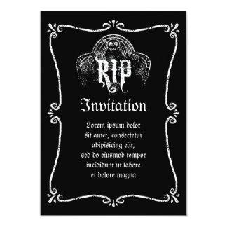 RIP 13 CM X 18 CM INVITATION CARD