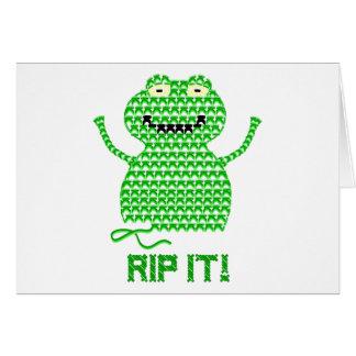 Rip It! Vector Crochet Frog Card