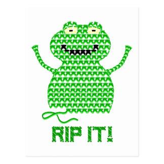 Rip It! Vector Crochet Frog Post Cards