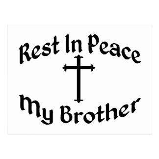 RIP My Brother Postcard