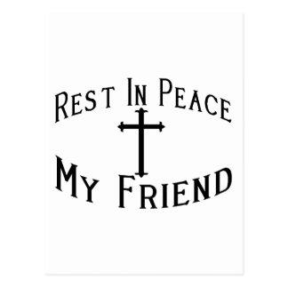 RIP My Friend Postcard