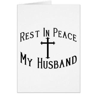 RIP My Husband Greeting Card