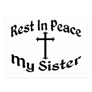 RIP My Sister Postcard