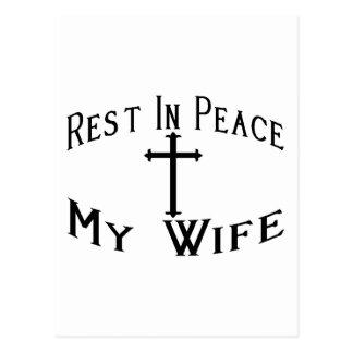 RIP My Wife Postcard