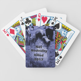 RIP Net Neutrality Gravestone Bicycle Playing Cards