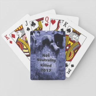 RIP Net Neutrality Gravestone Playing Cards