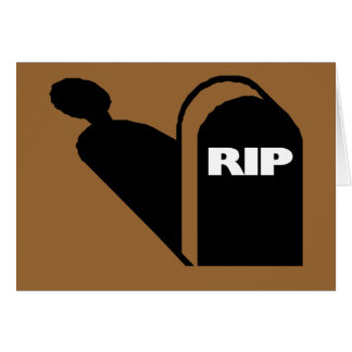 RIP - Rest In Peace Grave Ghost Memorial Stationery Note Card