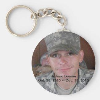 RIP Richard Brewer Basic Round Button Key Ring