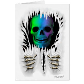 RIP SKELETON GREETING CARD
