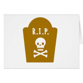 RIP Skull Greeting Card