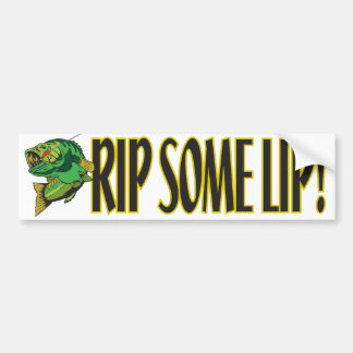 Rip Some Lip Bumper Sticker