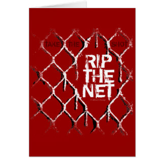 Rip The Net Greeting Card