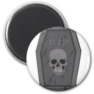 RIP Tombstone 6 Cm Round Magnet