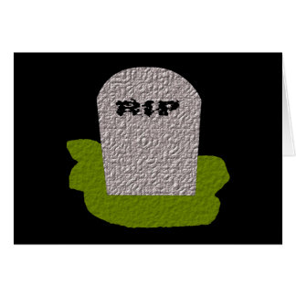 RIP Tombstone Greeting card