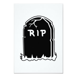 RIP Tombstone Invitations